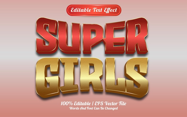 Efecto de texto super chicas