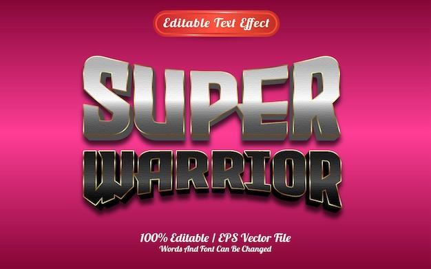 Efecto de texto super guerrero