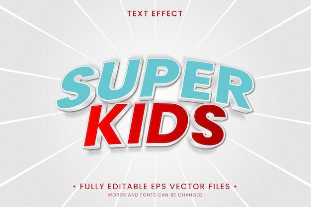 Efecto de texto super niños