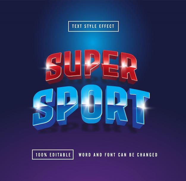 Efecto de texto superdeportivo editable