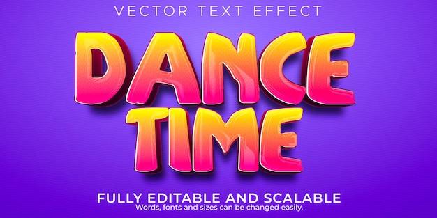 Efecto de texto de tiempo de baile