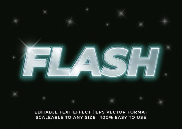 Efecto de texto de título de flash brillante