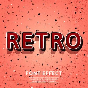 Efecto de texto de título retro 3d vintage
