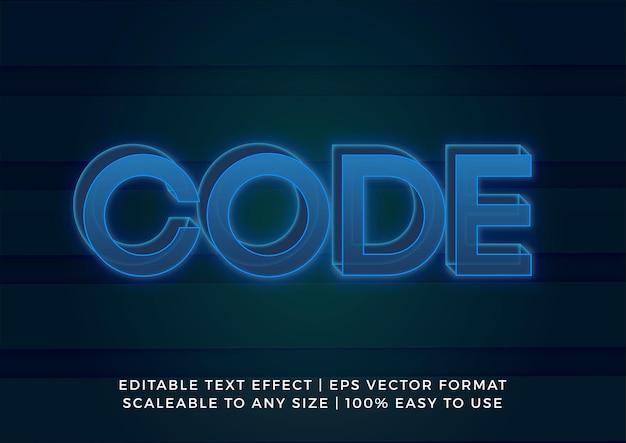 Efecto de texto de título transparente azul 3d