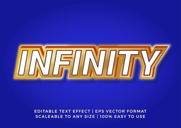 Efecto de texto de título trendy infinity 3d