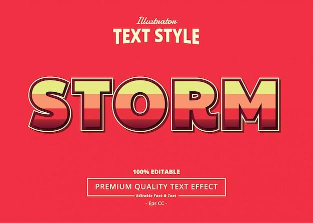 Efecto de texto de tormenta