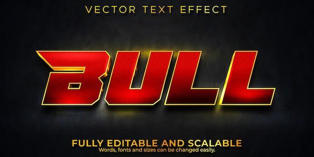 Efecto de texto de toro