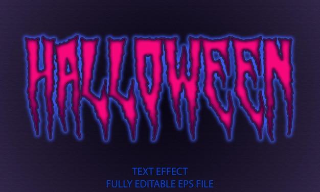 Efecto de texto totalmente editable de halloween