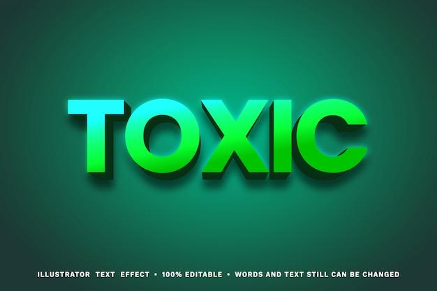 Efecto de texto tóxico 3d