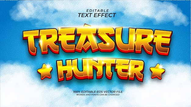 Efecto de texto de treasure hunter