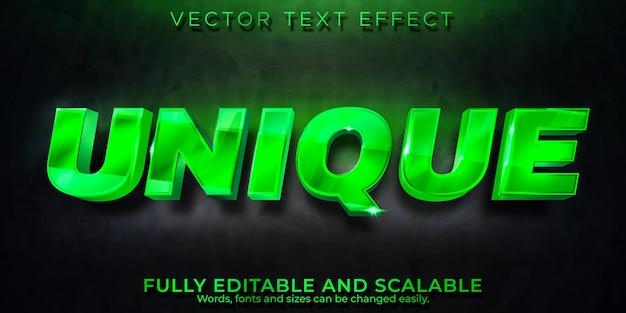 Efecto de texto único, estilo de texto editable real y de lujo