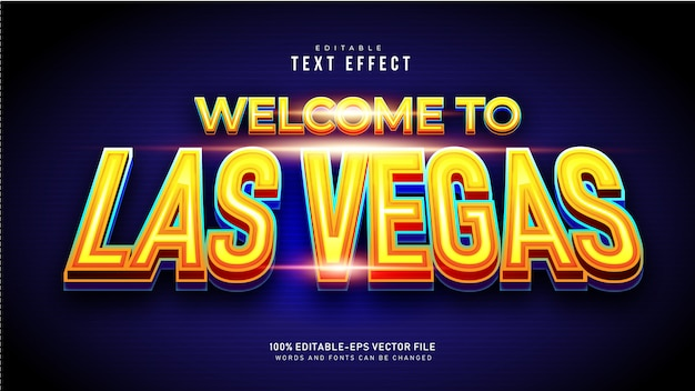 Efecto de texto de las vegas