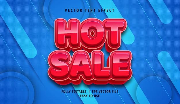 Efecto de texto de venta caliente 3d, estilo de texto editable