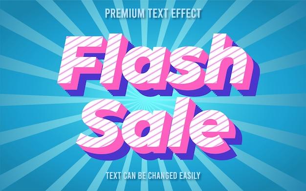 Efecto de texto de venta flash