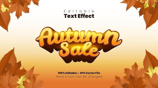 Efecto de texto de venta de otoño