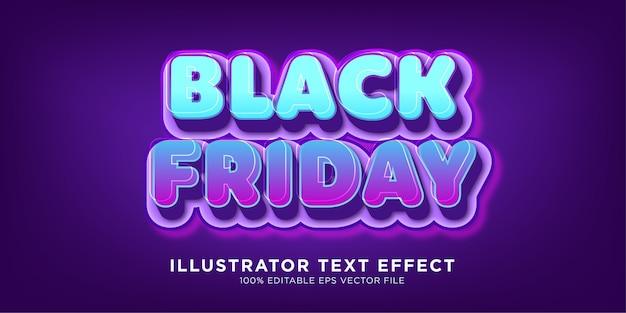 Efecto de texto de venta de viernes negro