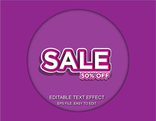 Efecto de texto de venta
