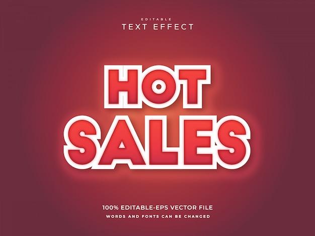 Efecto de texto de ventas calientes
