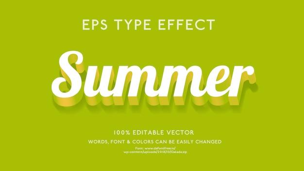 Efecto de texto para el verano con un estilo futurista 3d en negrita
