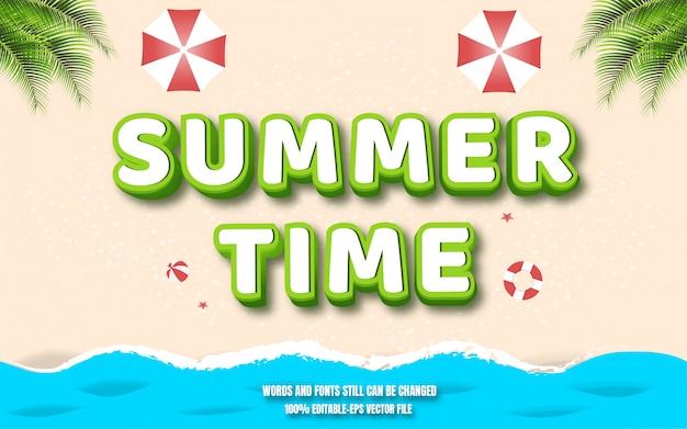 Efecto de texto de verano con vista a la playa desde arriba