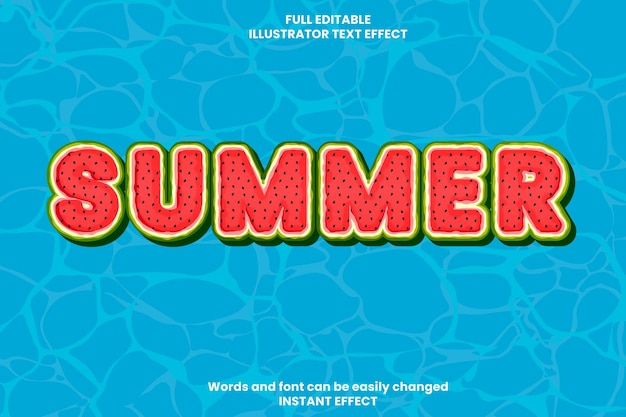 Efecto de texto de verano