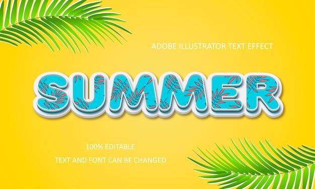 Efecto de texto de verano.