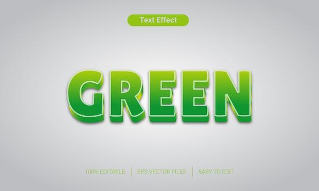 Efecto de texto verde fresco