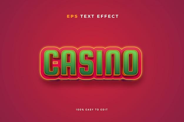 Efecto de texto verde rojo casino