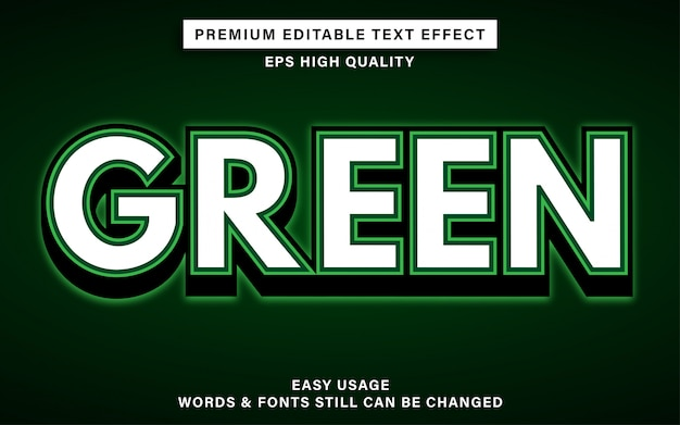 Efecto de texto verde
