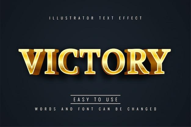 Efecto de texto de victoria