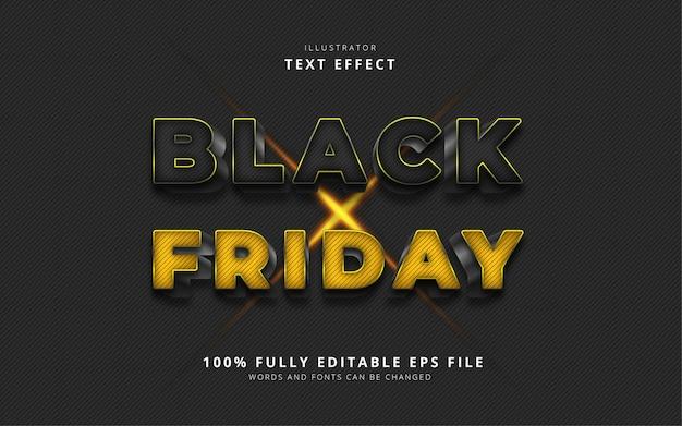 Efecto de texto de viernes negro