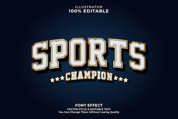 Efecto de texto vintage del deporte