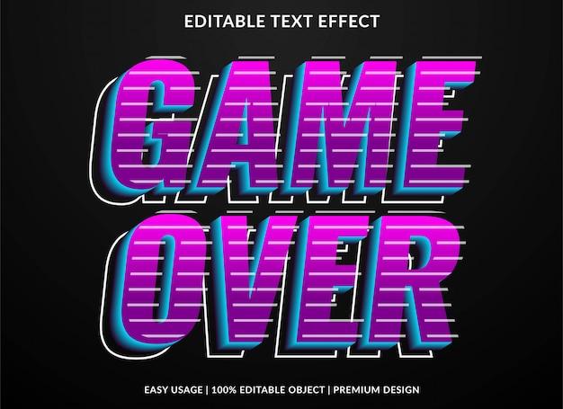 Efecto de texto vintage retro