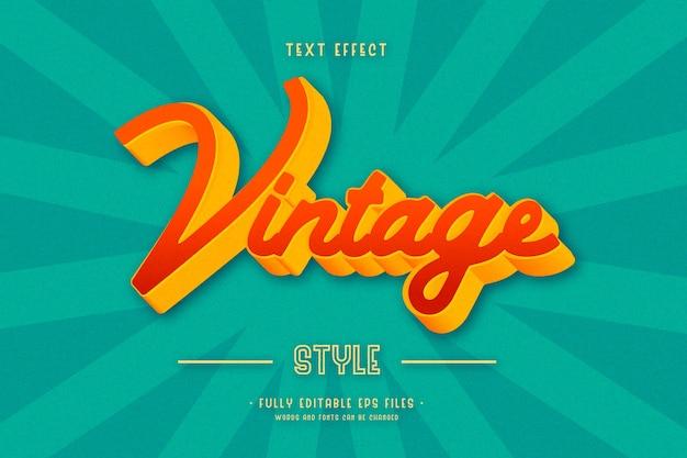 Efecto de texto vintage