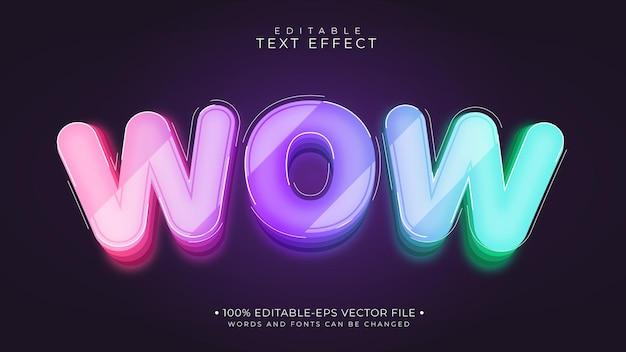 Efecto de texto wow colorido