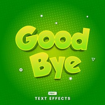 Efectos de estilo de texto adiós modernos