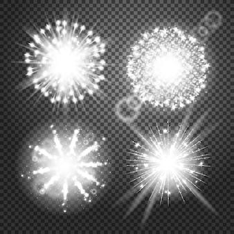 Efectos de luces brillantes vectoriales