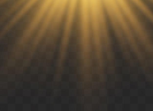 Efectos de luz brillante. lentejuelas brillantes de estrellas. resplandor solar.