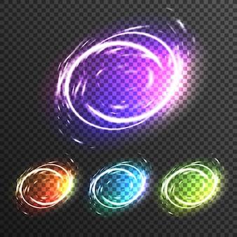 Efectos de luz chispas de composición transparente
