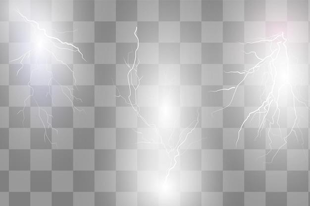 Efectos de rayos brillantes