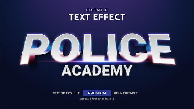 Efectos de texto editables de la academia de policía
