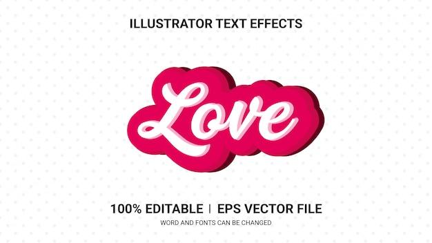 Efectos de texto editables: efectos de texto de amor