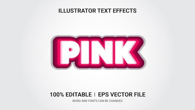 Efectos de texto editables: efectos de texto rosa