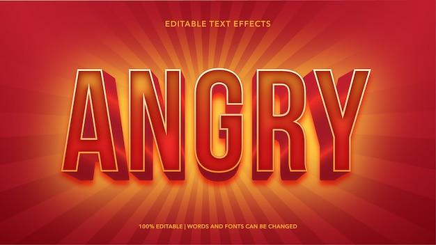 Efectos de texto editables enojados