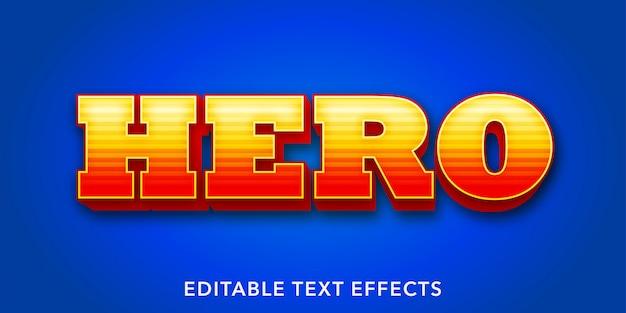 Efectos de texto editables de héroe
