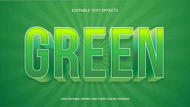 Efectos de texto editables verdes