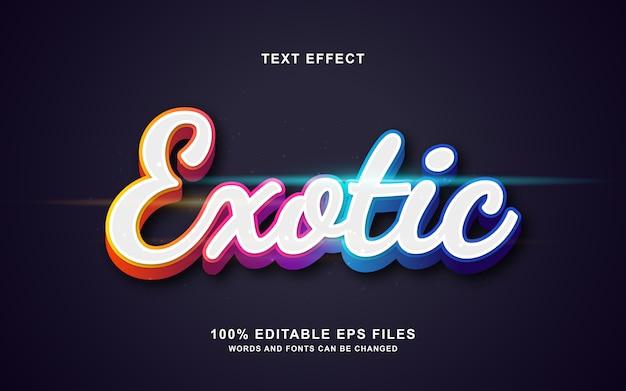Efectos de texto exóticos