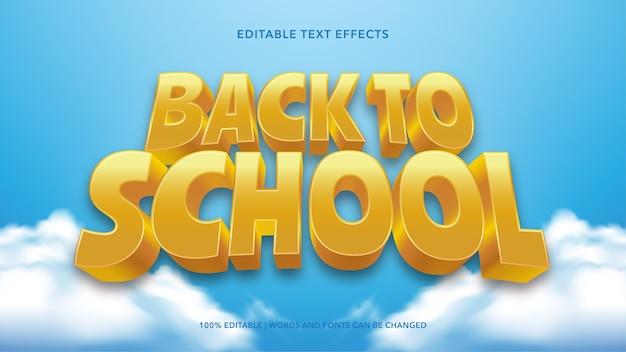 Efectos de texto de regreso a la escuela