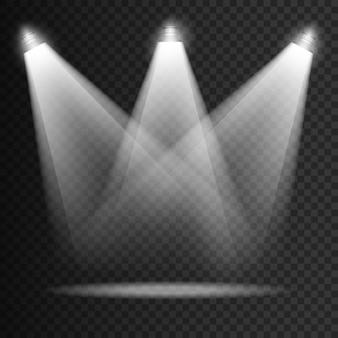Efectos transparentes de iluminación de escena.
