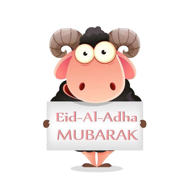 Eid al-adha mubarak. fiesta tradicional musulmana